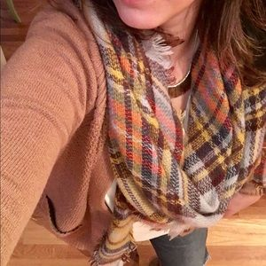 Accessories - Plaid Blanket Scarf - cut in half